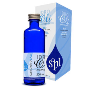 Oli Essenziali – Idro Blu<br>Defatigante, favorisce la traspirazione cutanea, pediluvi