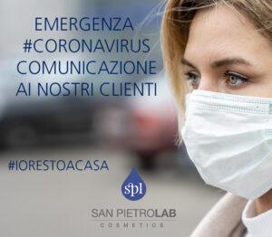 EMERGENZA CORONAVIRUS – COMUNICAZIONE IMPORTANTE ALLA CLIENTELA